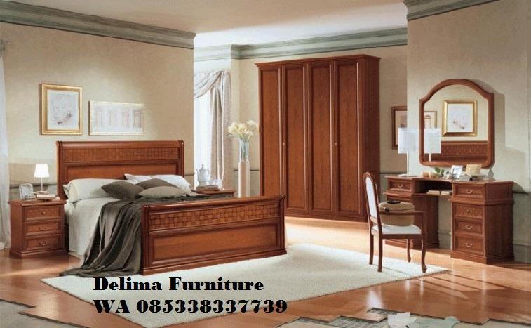 Set Tempat Tidur Minimalis Kayu Jati Mewah