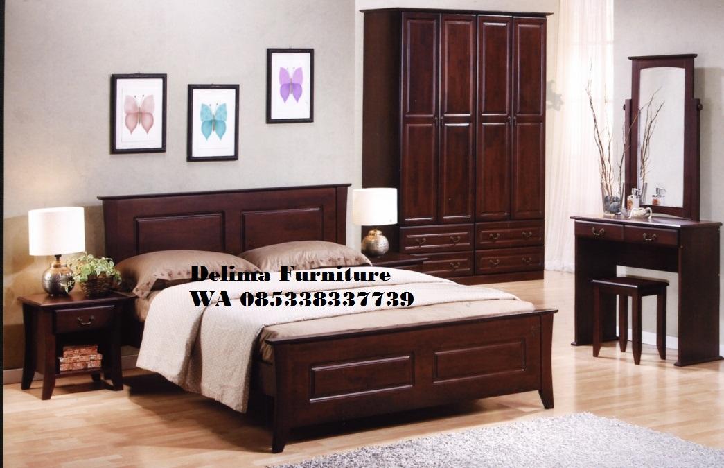 Set Tempat Tidur Minimalis Kayu Jati Murah